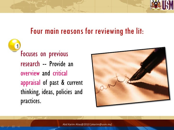 What goes into a literature review