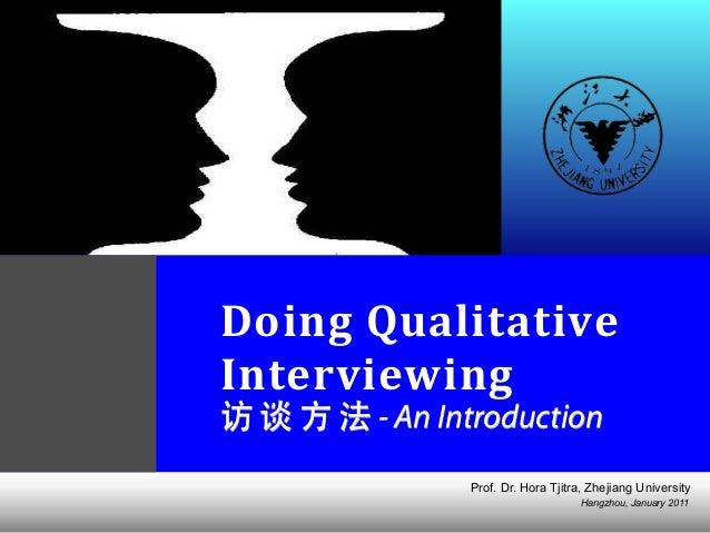 Doing Qualitative Interview (updated jan 2011)