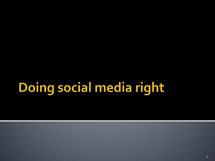 Are you doing social media right?