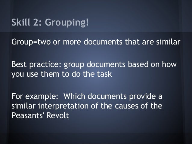 How to group documents in a DBQ?
