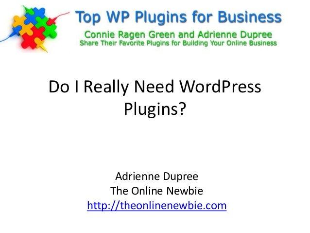 Do I Really Need WordPress Plugins?