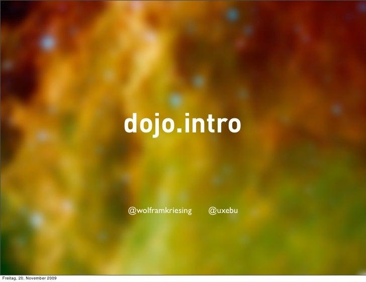 Dojo Basics Js UserGroup Chicago