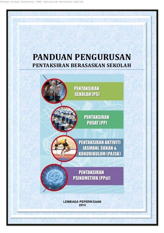 Panduan Pengurusan PBS Kementerian Pelajaran Malaysia