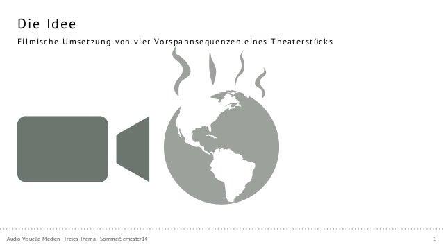 1Audio-Visuelle-Medien · Freies Thema · SommerSemester14 Die Idee Filmische Umsetzung von vier Vorspannsequenzen eines The...