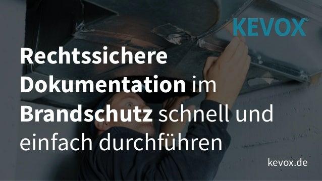 Rechtssichere Dokumentation im Brandschutz schnell und einfach durchführen kevox.de