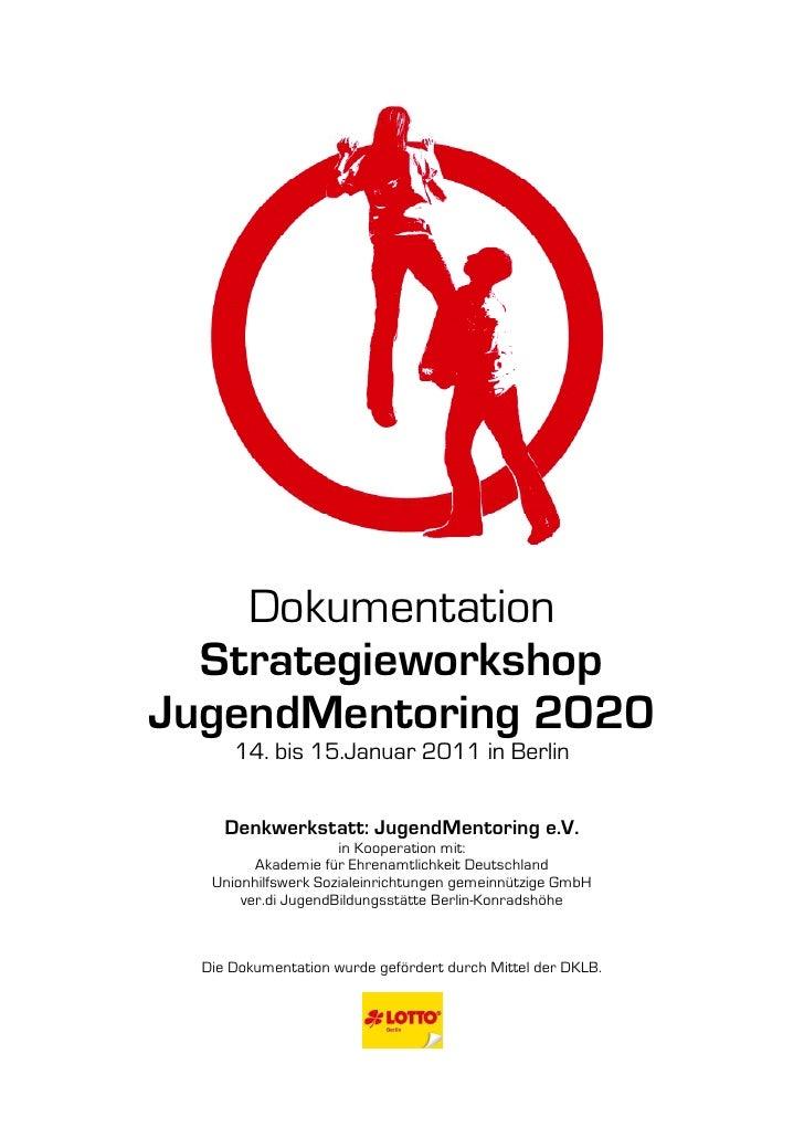 Dokumentation: Strategieworkshop  JugendMentoring 2020