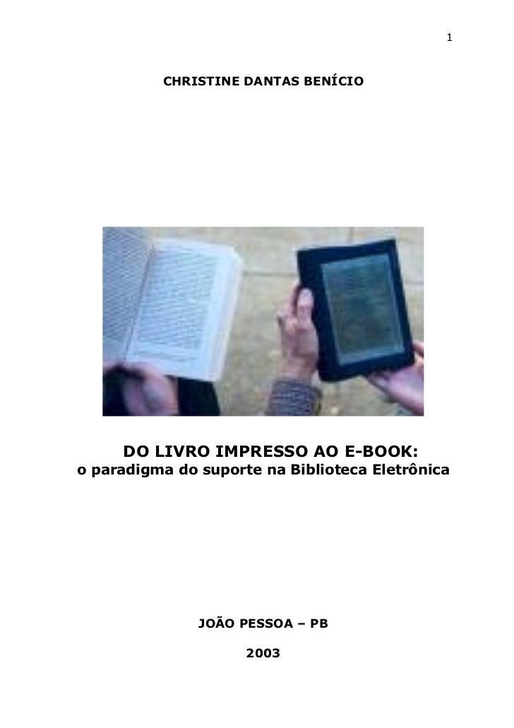 Do livro impresso ao e book
