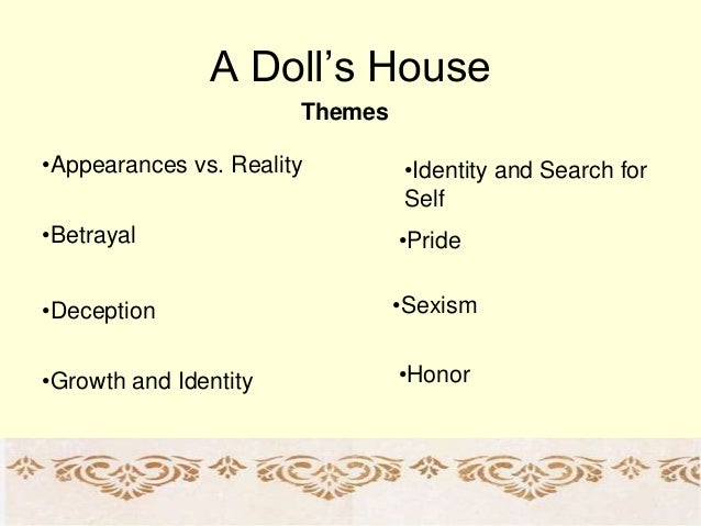 doll house essay Henrik ibsen's, a doll house, is a realistic play written in the mindset of realism  throughout the play, lines of mockery and emphasis are present, giving the.