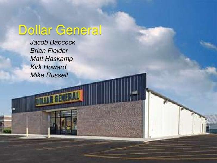 Dollar General<br />Jacob Babcock<br />Brian Fielder<br />Matt Haskamp<br />Kirk Howard <br />Mike Russell<br />