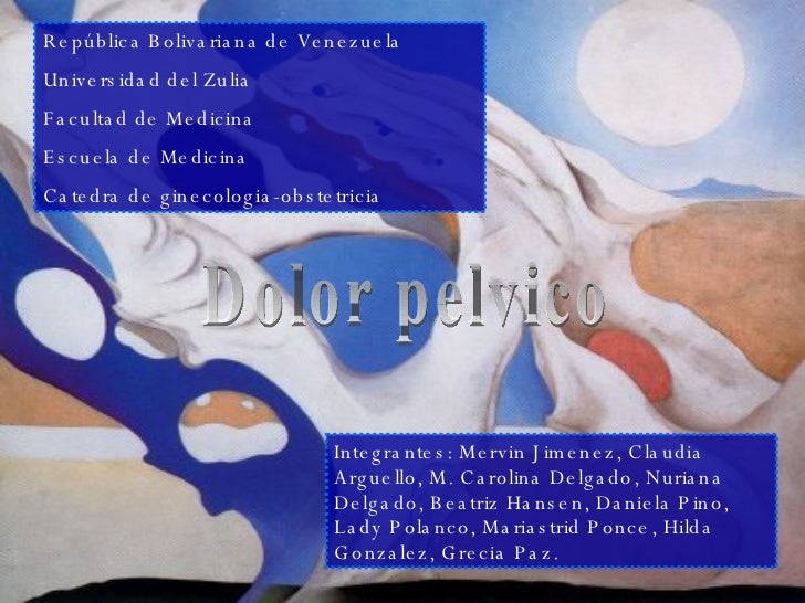 República Bolivariana de Venezuela Universidad del Zulia Facultad de Medicina Escuela de Medicina Catedra de ginecologia-o...