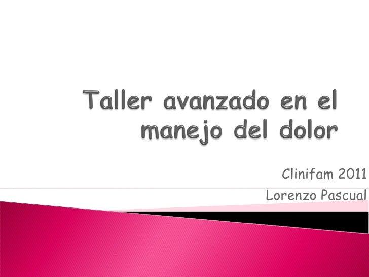 Clinifam 2011 Lorenzo Pascual