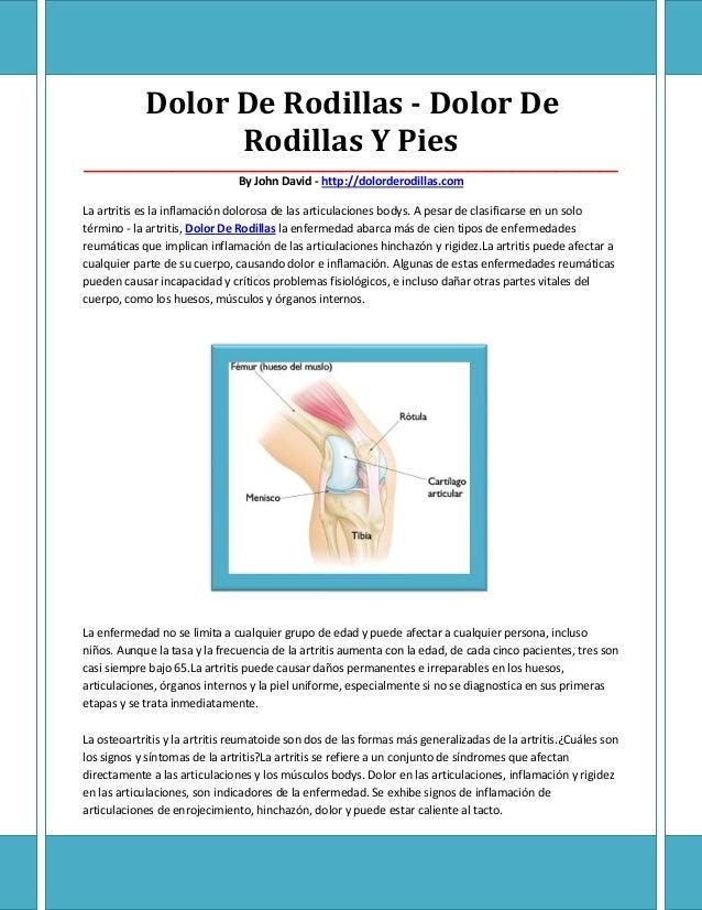 Dolor De Rodillas - Dolor De                  Rodillas Y Pies_____________________________________________________________...