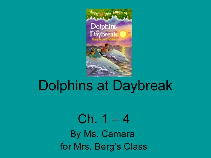 Dolphins at Daybreak Ch. 1 – 4 By Ms. Camara  for Mrs. Berg's Class