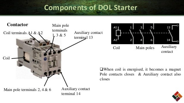 direct online starter dol starter rh electronicshub org Three-Phase Contactor Wiring Diagram Lighting Contactor Diagram