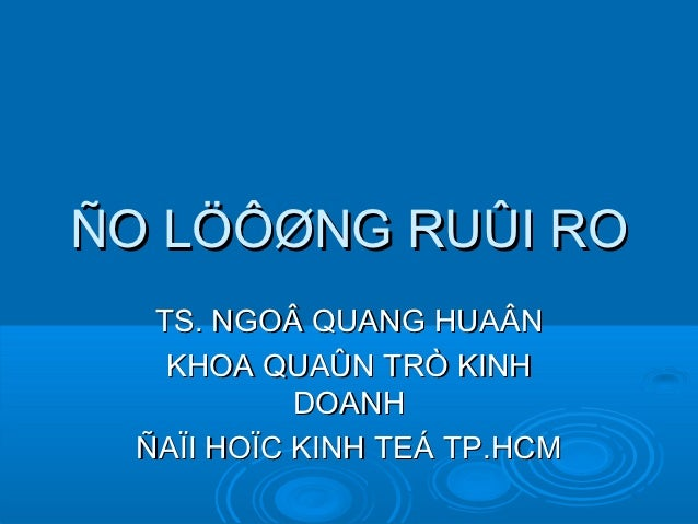 Do luong rui ro