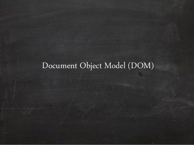 Document Object Model (DO