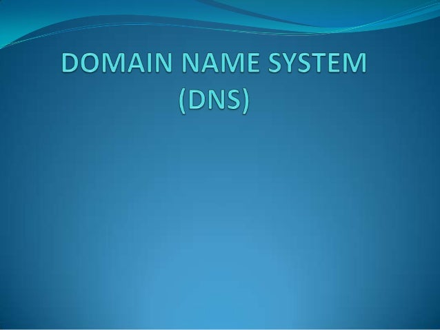 NEED OF DNS  To identify an entity, the Internet uses the IP address, which uniquely identifies the connection of a host ...