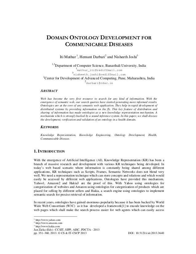 Jan Zizka (Eds) : CCSIT, SIPP, AISC, PDCTA - 2013 pp. 351–360, 2013. © CS & IT-CSCP 2013 DOI : 10.5121/csit.2013.3640 DOMA...