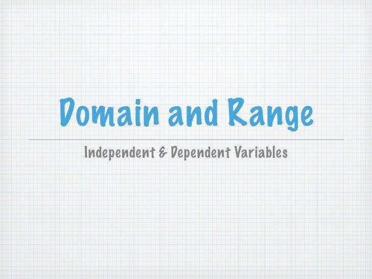 Domain & range intro presentation