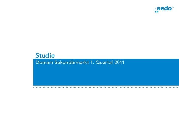 StudieDomain Sekundärmarkt 1. Quartal 2011