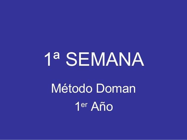 Método Doman - Semana 1 (Primer año)
