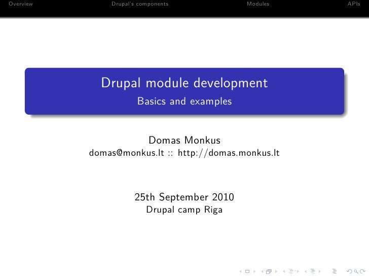 Domas monkus drupal module development