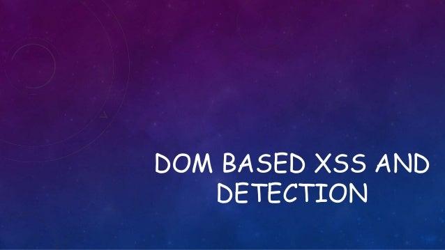 Dom based xss
