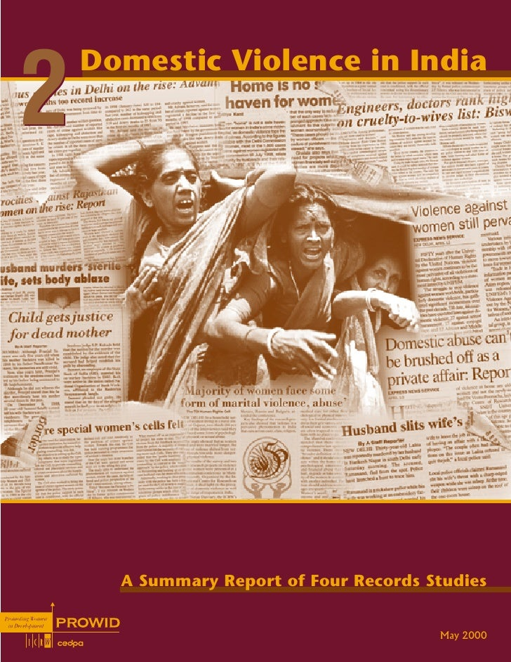 Domestic violence-in-india-2-a-summary-report-of-four-records-studies