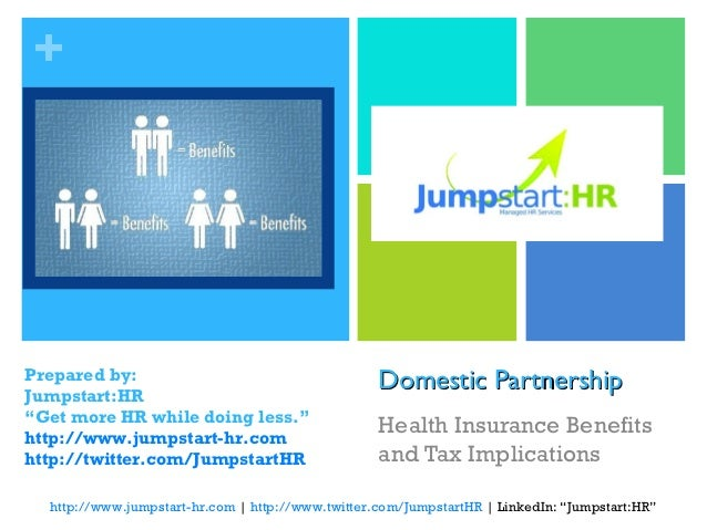 "+Prepared by:Jumpstart:HR                                                   Domestic Partnership""Get more HR while doing l..."