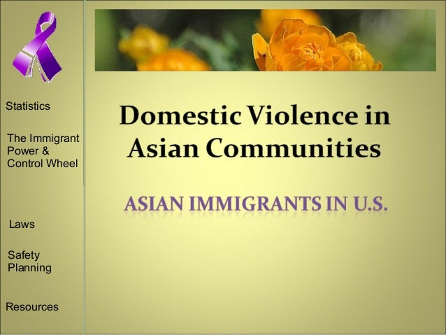Statistics The Immigrant Power & Control Wheel Laws Safety Planning Resources