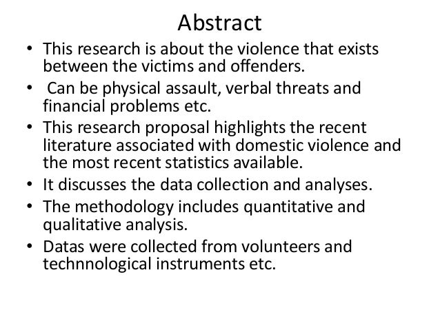 domestic violence thesis statement research papers