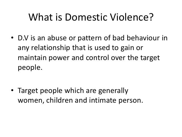 Thesis statement on domestic violence