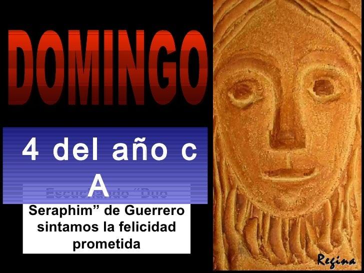 """Escuchando """"Duo Seraphim"""" de Guerrero sintamos la felicidad prometida DOMINGO 4 del año c A  Regina"""