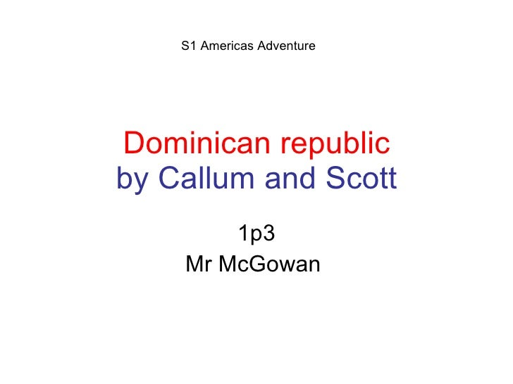 Dominican Republic Callum And Scott