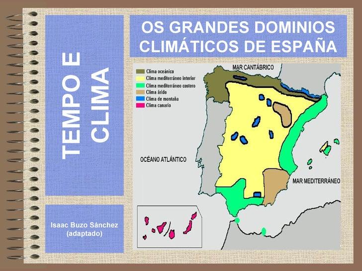 Os dominios climáticos da Península Ibérica