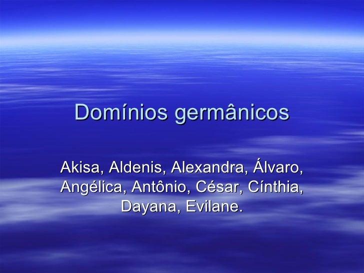 Dominios Germanicos