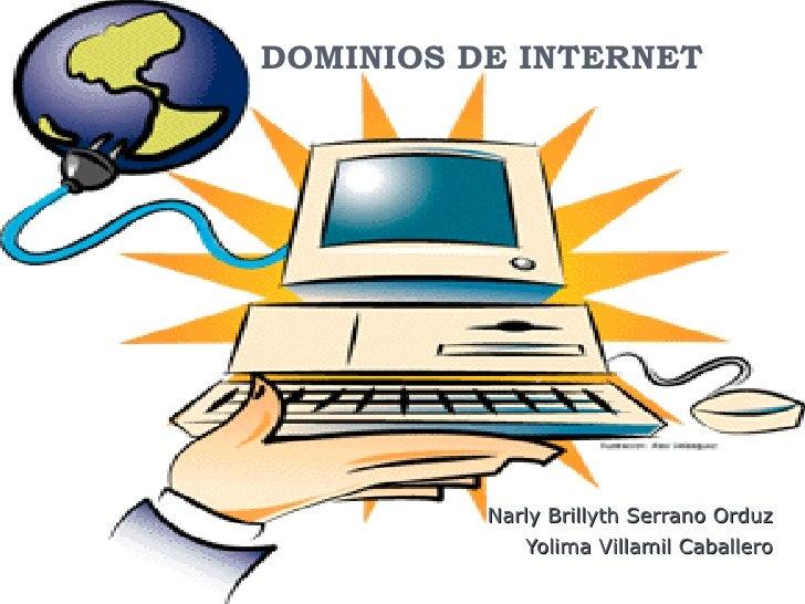 DOMINIOS DE INTERNET Narly Brillyth Serrano Orduz Yolima Villamil Caballero