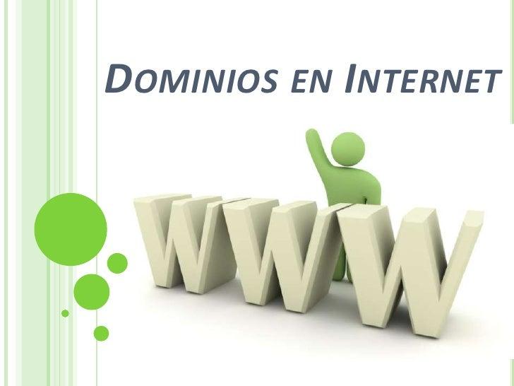 Dominios en internet