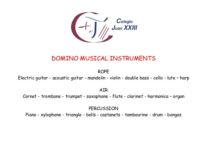 Colegio                                                Juan XXIII                 DOMINO MUSICAL INSTRUMENTS              ...