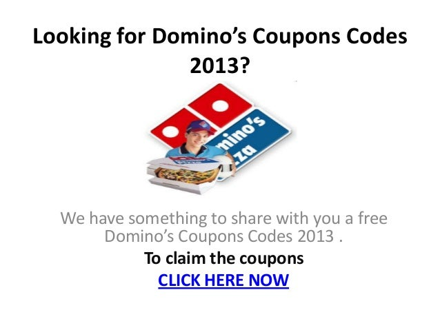 Free online dominos coupons