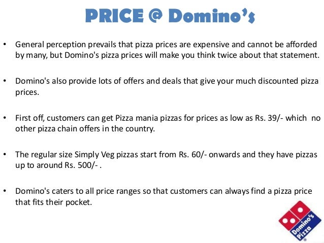 dominos pizza pricing strategies But the real impressive story for dominos pizza is its long term strategy recommended by forbes with domino's live test, pizza chain has nothing left.