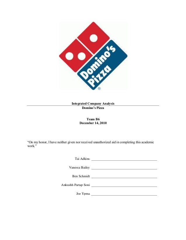 Integrated Company Analysis                                       Domino's Pizza                                         T...