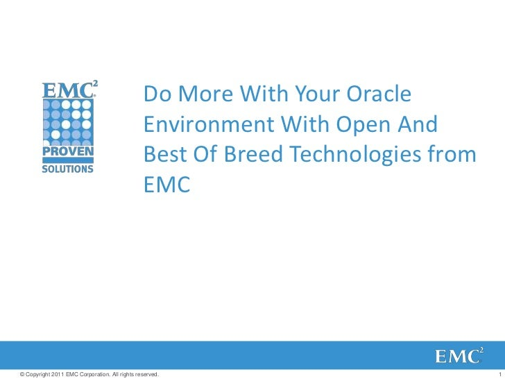 Do More with Oracle Environment with Open and Best of breed Technologies