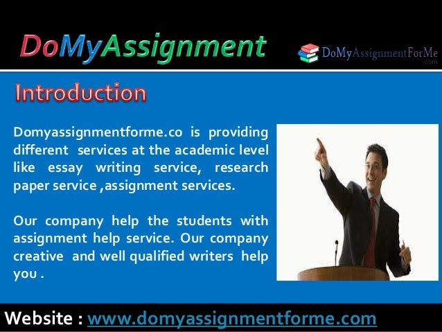 Introduction For Assignment