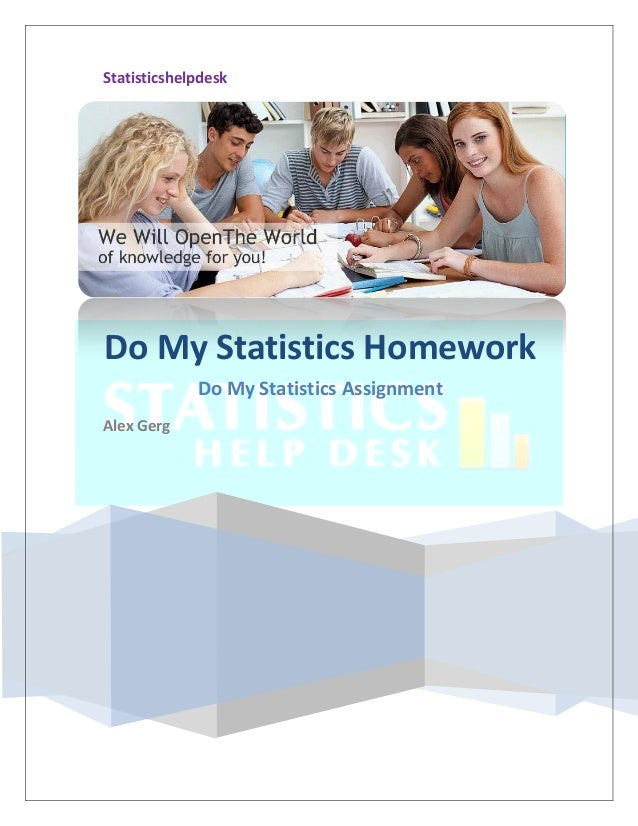 Write my stats homework