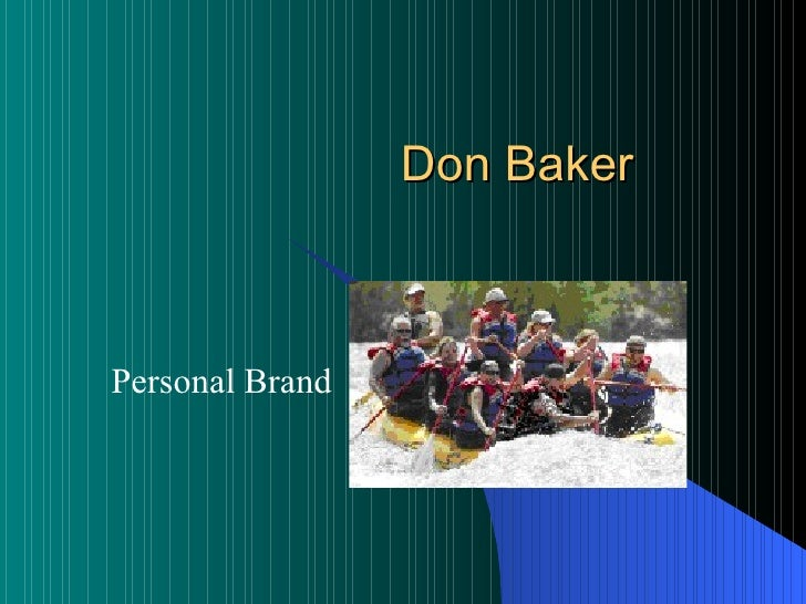 Don Baker Personal Brand