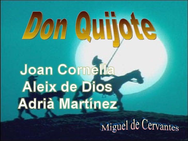 Aleix, Adria M i Joan Cornella