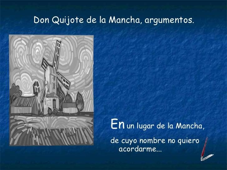 Don Quijote Argumentos