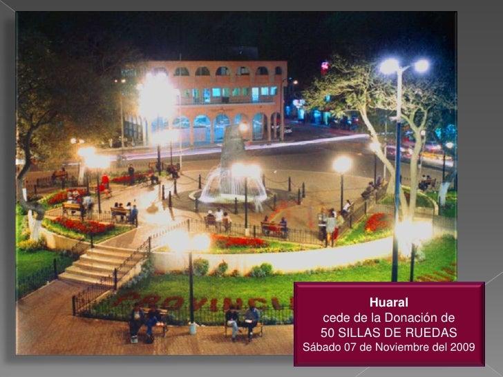 Imagenes del Evento de Entrega de Sillas de Ruedas en Huaral