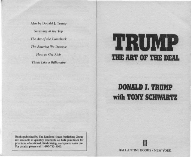 Donald J. Trump - The Art of Deal